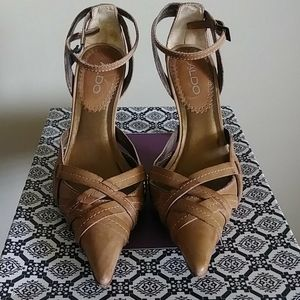 ALDO wrap around heels